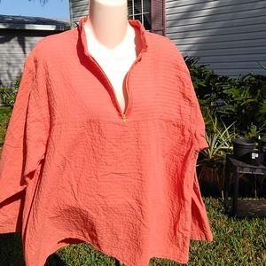 Ezze Wear Ladies Premium Cotton Pullover w/zipper.